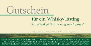 Gutschein für ein Whiskytasting